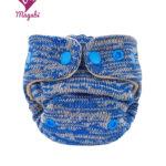 Magabi – Wollüberhose NB: Melange azurblau/mandel (begrenzte Auflage)