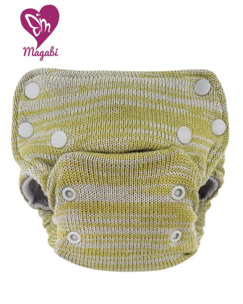 Magabi – SideSnap SIO-Wollüberhose OS: Melange olive/salbei (begrenzte Auflage)